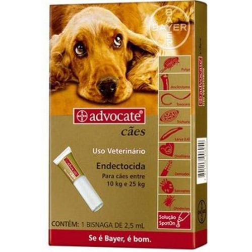 Antipulgas Advocate para Cães entre 10 e 25kg 2,5ml