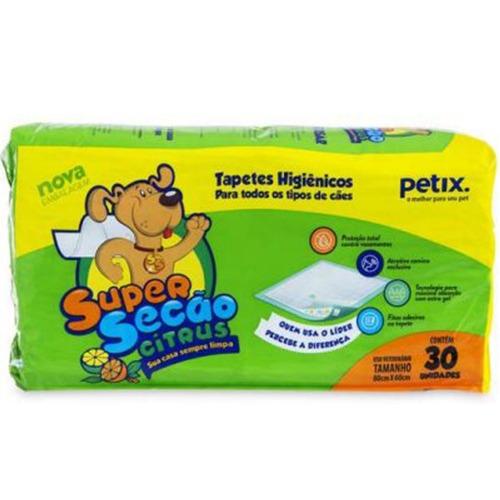 Super Secão Citrus Tapete Higiênico para Cães – 30 Unidades